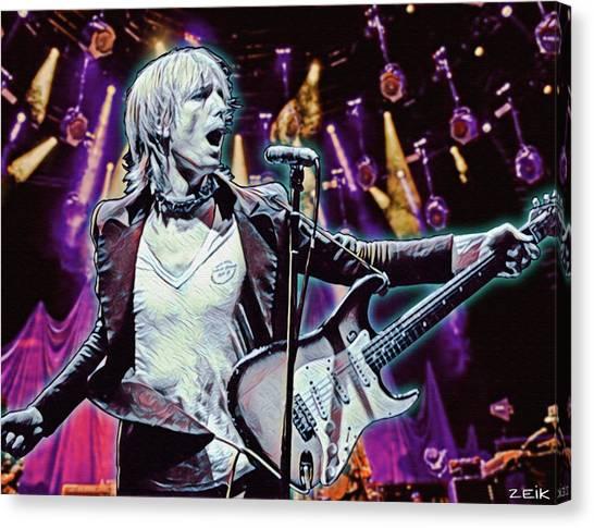 Tom Petty Canvas Print - Tom Petty - I Need To Know by Bobby Zeik
