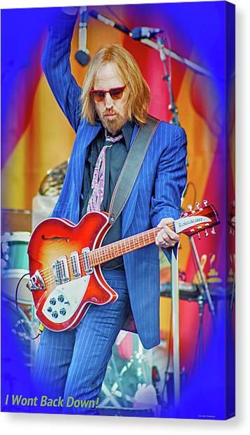 Tom Petty Canvas Print - Tom Petty, I Wont Back Down by Marc Malin