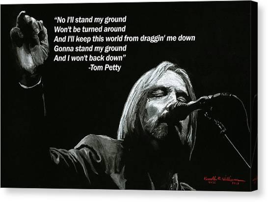 Tom Petty Canvas Print - Tom Petty by Kenneth Williams