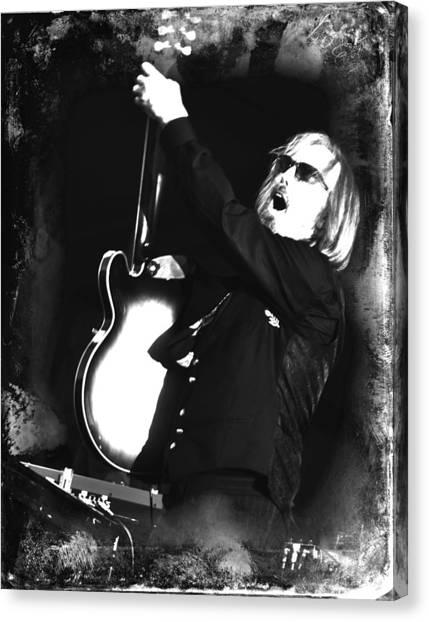 Tom Petty Canvas Print - Tom Petty by Lucrecia Cuervo
