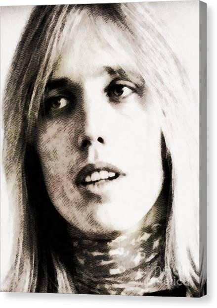 Stardom Canvas Print - Tom Petty, Music Legend by John Springfield
