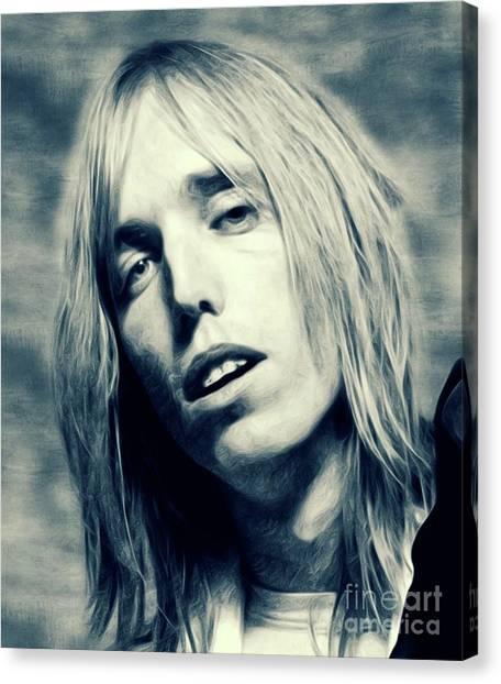 Tom Petty Canvas Print - Tom Petty, Music Legend by Mary Bassett