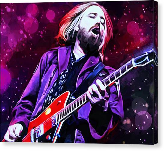 Tom Petty Canvas Print - Tom Petty Painting by Scott Wallace
