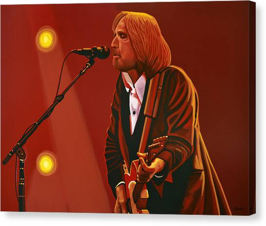 Elvis Canvas Print - Tom Petty by Paul Meijering