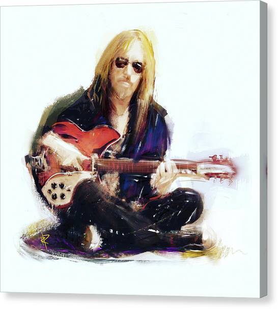 Tom Petty Canvas Print - Tom Petty by Russell Pierce