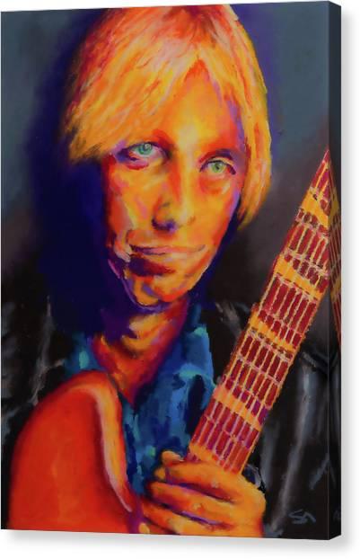 Tom Petty Canvas Print - Tom Petty by Stephen Anderson