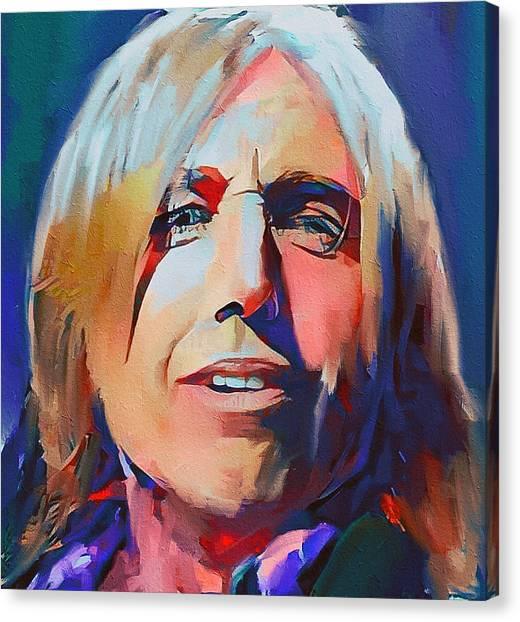 Tom Petty Canvas Print - Tom Petty Tribute Portrait 2 by Yury Malkov