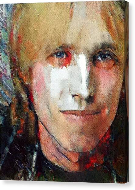 Tom Petty Canvas Print - Tom Petty Tribute Portrait 3 by Yury Malkov