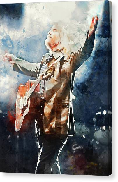 Tom Petty - Watercolor Portrait 13 Canvas Print