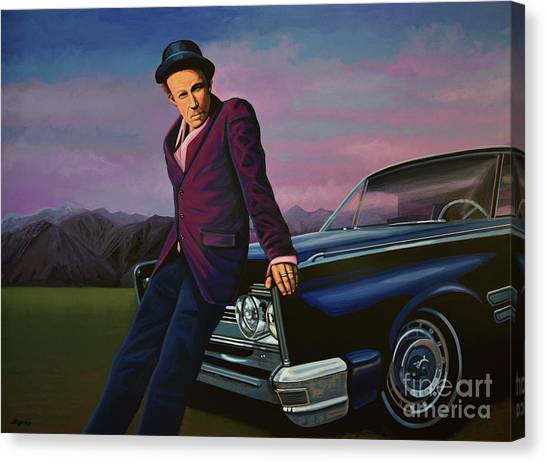 Oldtimers Canvas Print - Tom Waits by Paul Meijering