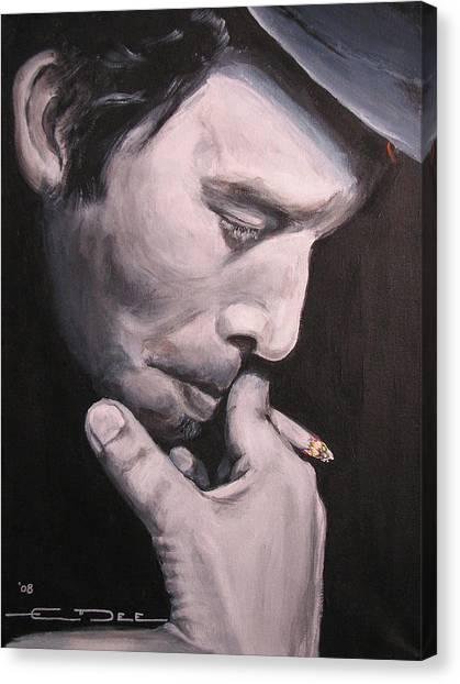 Tom Waits Two Canvas Print