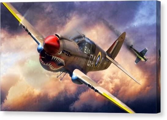 United States Army Air Corps Canvas Print - Tomahawk Chop by Peter Chilelli