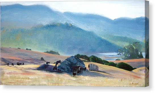 Tomales Twilight Canvas Print by Colleen Proppe