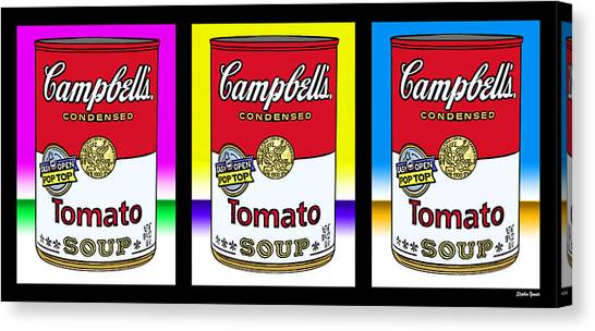 Andy Warhol Canvas Print - Tomato Soup by Stephen Younts