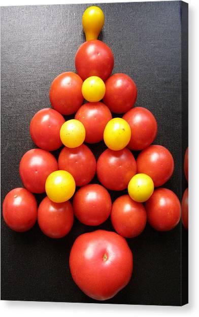 Tomatoe Tree Canvas Print by Jeanette Oberholtzer
