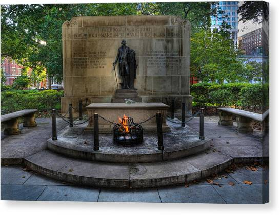 Tomb Of The Unknown Revolutionary War Soldier - George Washington  Canvas Print