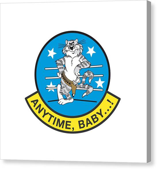 Tomcat Anytime Baby Canvas Print