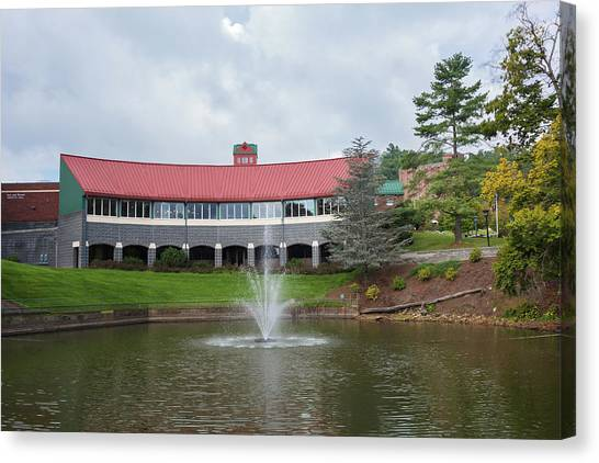 Appalachian State University Asu Canvas Print - Tomlinson Park And Trivette Hall At Asu. by Bryan Pollard