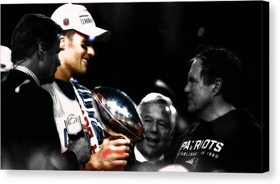 Joe Montana Canvas Print - Tom Brady Another Superbowl by Brian Reaves