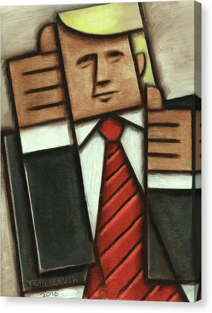 Tommervik Abstract Donald Trump Thumbs Up Painting Canvas Print
