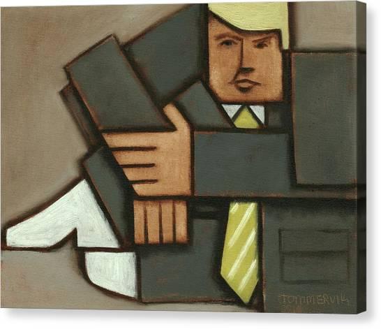 Donald Trump Canvas Print - Tommervik Abstract Cubism Donald Trump Art Print by Tommervik