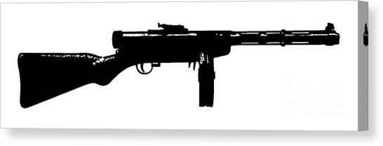 Weapons Canvas Print - Tommy Gun Tee by Edward Fielding