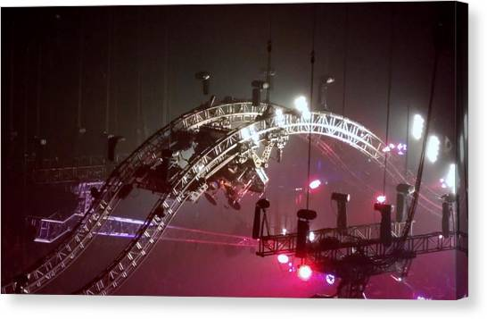 Tommy Lee Motley Crue Farewell Tour Brooklyn N Y 2015 Or Flying Drums Canvas Print