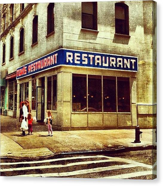 Tom's Restaurant. #seinfeld Canvas Print by Luke Kingma