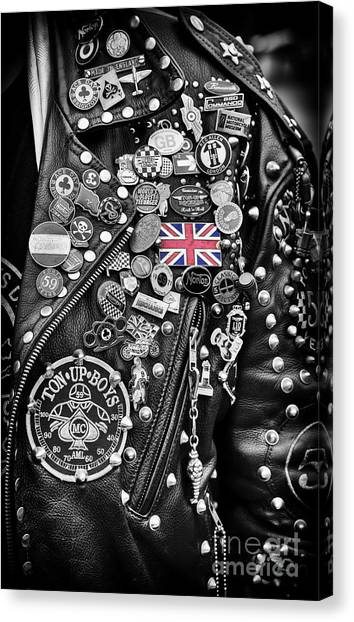 Rocker Canvas Print - Ton Up Boys by Tim Gainey