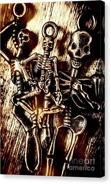 Skeletons Canvas Print - Tones Of Halloween Horror by Jorgo Photography - Wall Art Gallery