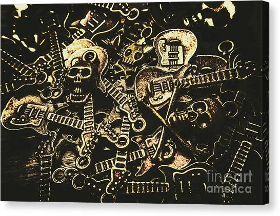 Bass Guitars Canvas Print - Tones Of Hard Rock by Jorgo Photography - Wall Art Gallery