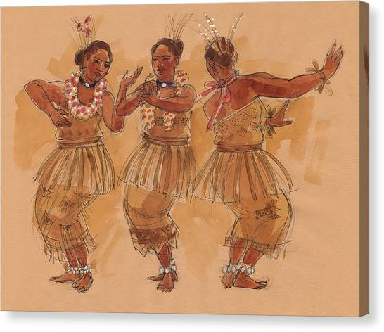 Tonga Dance From Niuafo'ou Canvas Print
