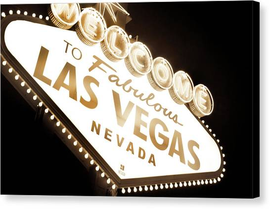 Sin Canvas Print - Tonight In Vegas by Az Jackson