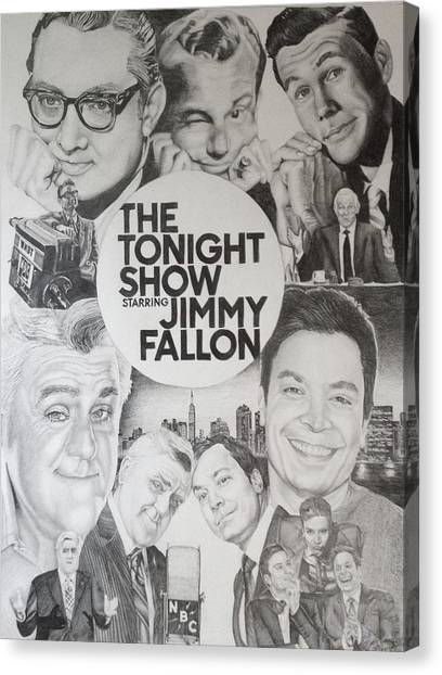 Johnny Carson Canvas Print - Tonight Show by Danielle Billings