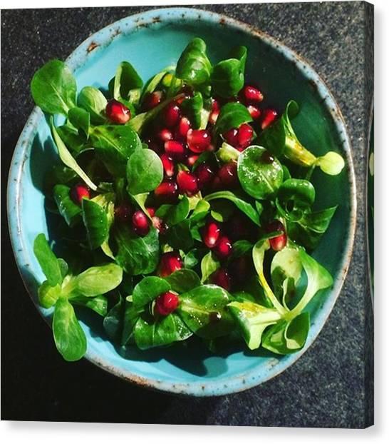 Salad Dressing Canvas Print - Tonight's #salad Is #lambslettuce by Selda Cankaya