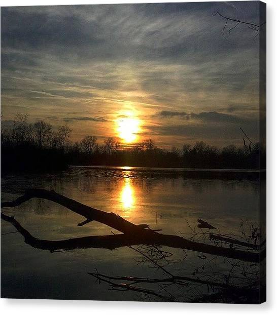 Sublime Canvas Print - Tonight's Sunset Over Thread Lake In by Douglas Carey