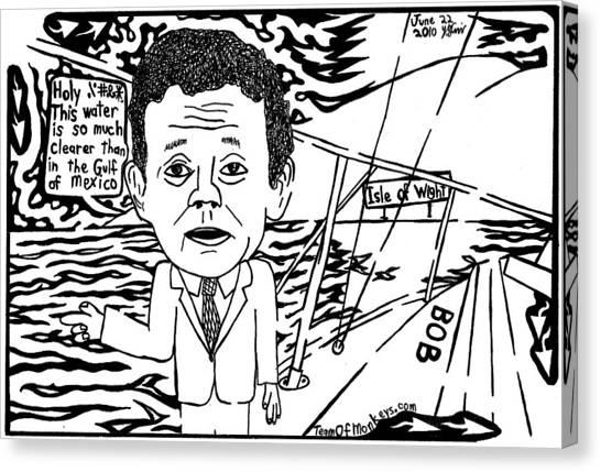 Tony Hayward Sailing For A Reason By Yonatan Frimer Canvas Print by Yonatan Frimer Maze Artist