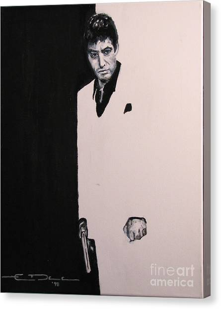 Scarface Canvas Print - Tony Montana - Scarface by Eric Dee