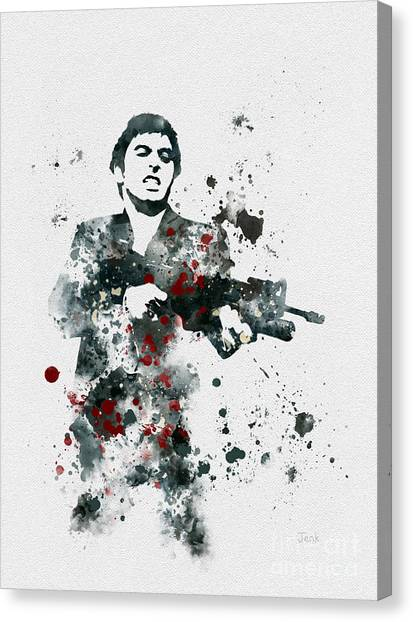 Scarface Canvas Print - Tony Montana by Rebecca Jenkins