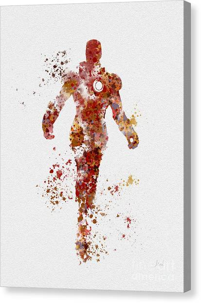Avengers Canvas Print - Tony Stark  by Rebecca Jenkins