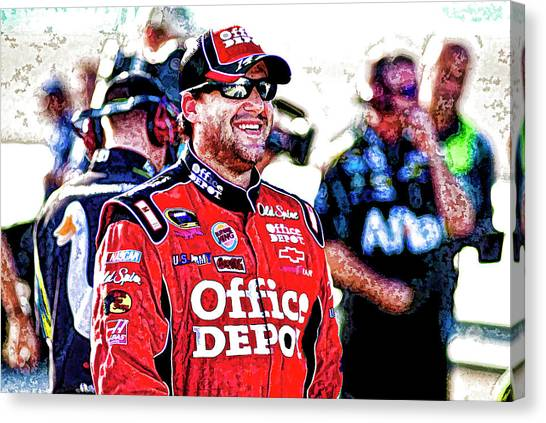 Tony Stewart Canvas Print - Tony Stewart by Kevin Cable