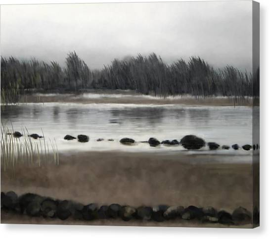 Canvas Print featuring the painting Too Early Out by Ivana