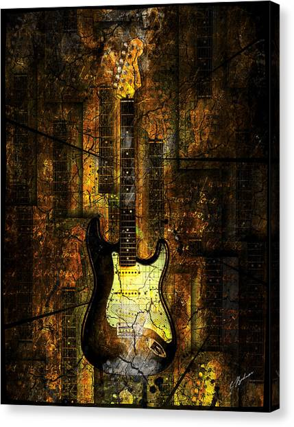 Fender Guitars Canvas Print - Too Hot To Handle 02 by Gary Bodnar
