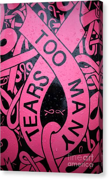 Breast Cancer Canvas Print - Too Many Tears by Edward Fielding