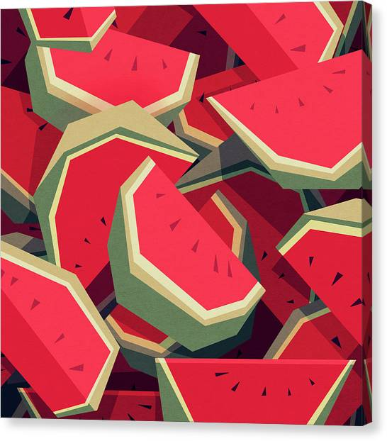 Canvas Print - Too Many Watermelons by Yetiland