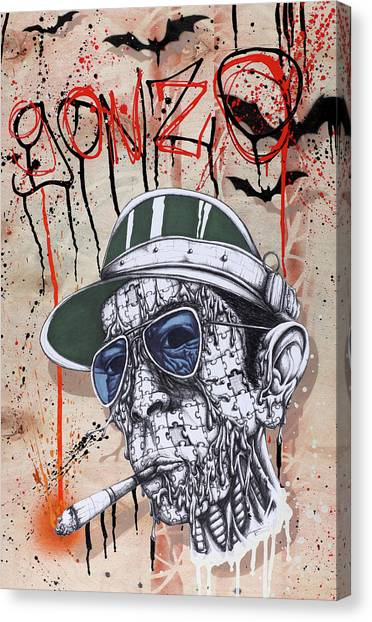 Cigarette Canvas Print - Too Weird To Live Too Rare To Die by Tai Taeoalii