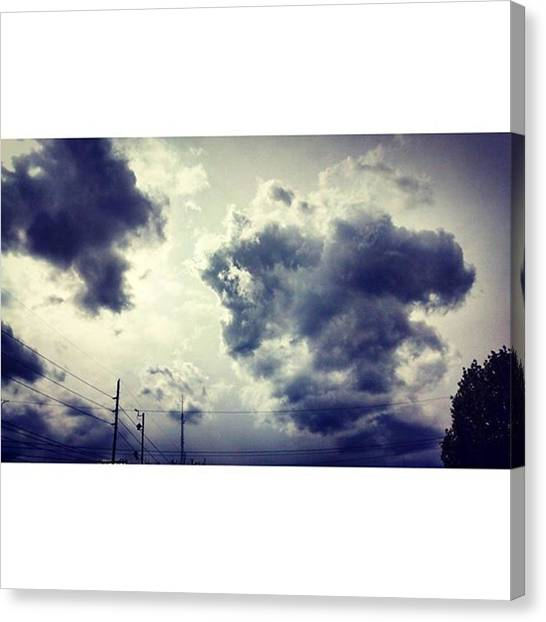Storms Canvas Print - Took This Yesterday Just Before The by Genevieve Esson
