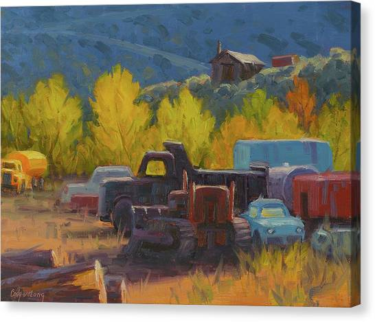 Dump Trucks Canvas Print - Tools Of The Trade by Cody DeLong