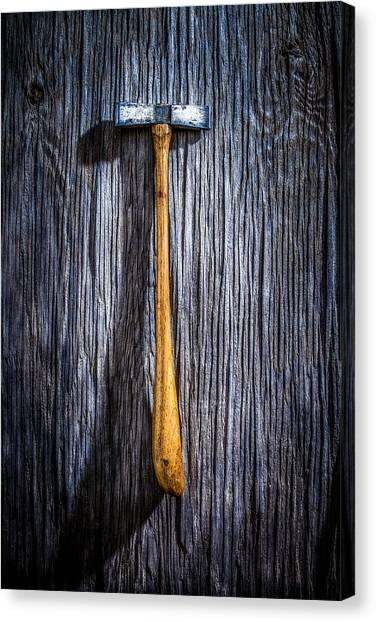Contractors Canvas Print - Tools On Wood 19 by Yo Pedro