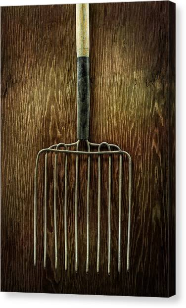 Contractors Canvas Print - Tools On Wood 21 by Yo Pedro
